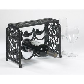 Wall mount wine rack wrought iron