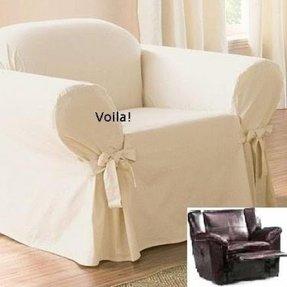 Astounding White Recliner Slipcover Ideas On Foter Dailytribune Chair Design For Home Dailytribuneorg