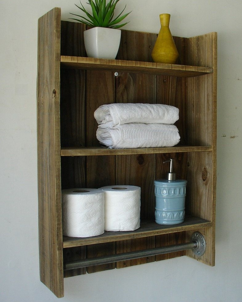 Incroyable Wooden Bathroom Towel Rack Shelf Wood 3tier Bathroom Shelf Simply