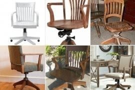 Charmant Wooden Swivel Desk Chairs