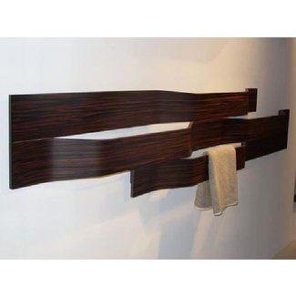 Wooden towel rails for bathrooms