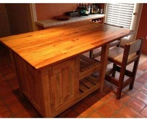 Rustic kitchen islands and carts foter for Affordable furniture in gonzales