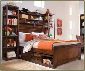 Bedroom Furniture Bookcase Headboard Full Size Beds With Storage Bed