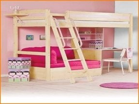 Loft Bed With Desk On Top Ideas On Foter
