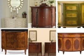 Exceptional Demilune Console Cabinet
