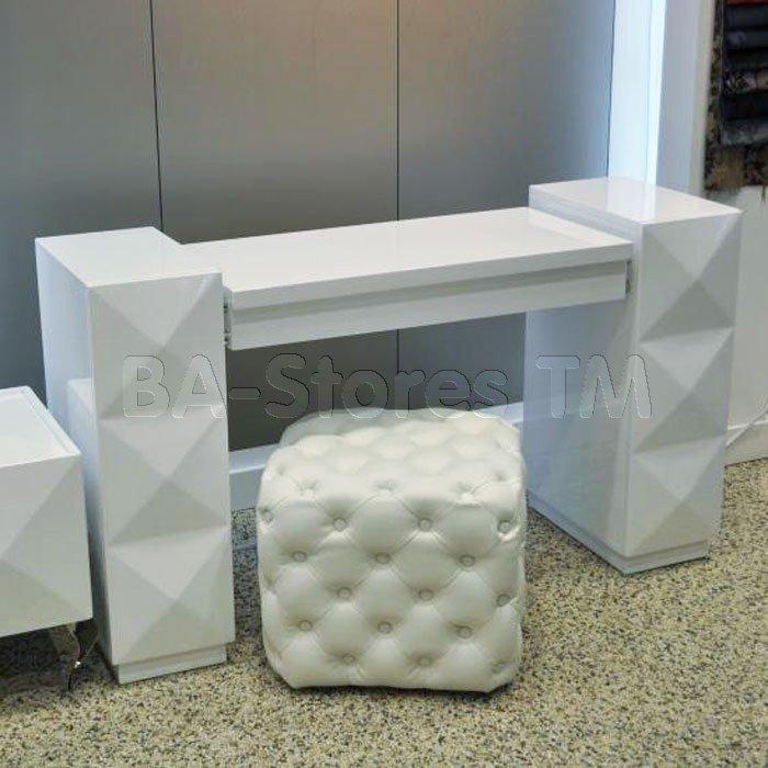 Attractive Eva White Lacquer Vanity Table Vig Furniture
