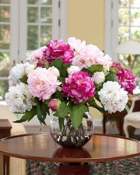 For Dining Room Table Awesome White And Pink Silk Flower