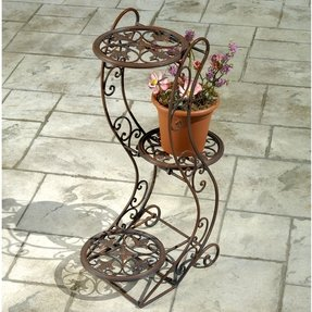 Home frascati 3 tier metal plant stand