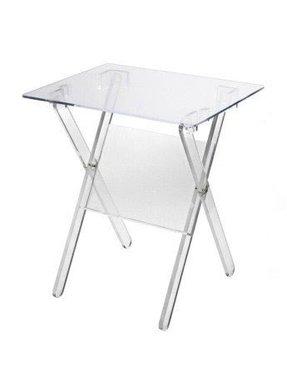 Modern folding plexi glass tv tray