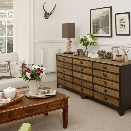 Merveilleux Neutral Living Room With Chest Of Drawers Living Room Decorating