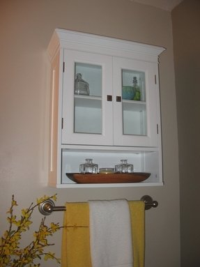 White Over The Toilet Storage Foter