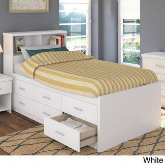Sonax 2 piece single twin captains storage bed set with