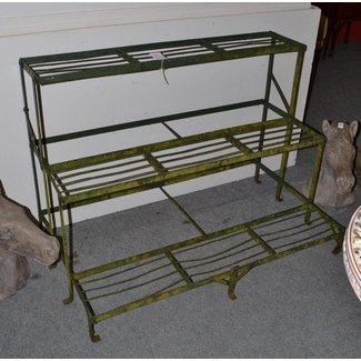 Tennants auctioneers a three tier metal plant stand