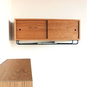 Wall mounted media storage cabinet 3