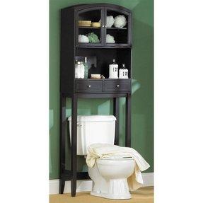 White Over The Toilet Storage Ideas