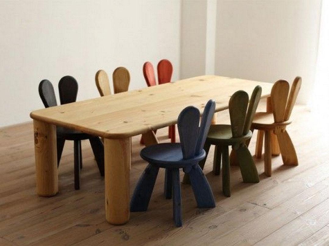 Wooden Children Chairs