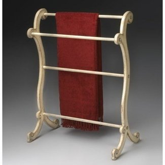 Wooden towel rack can also as a decoration in the