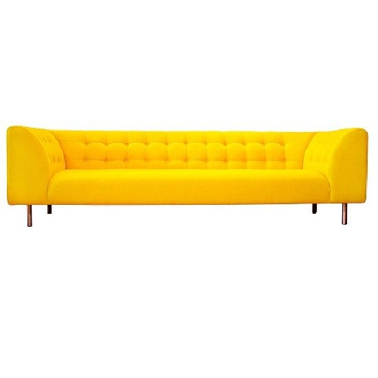 Beautiful Yellow Sofas Collection Yellow Long Sofa Leather For Big