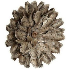 Curled Petals 30 Round Metal Flower Wall Decor