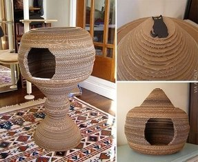 How to make a cat playhouse