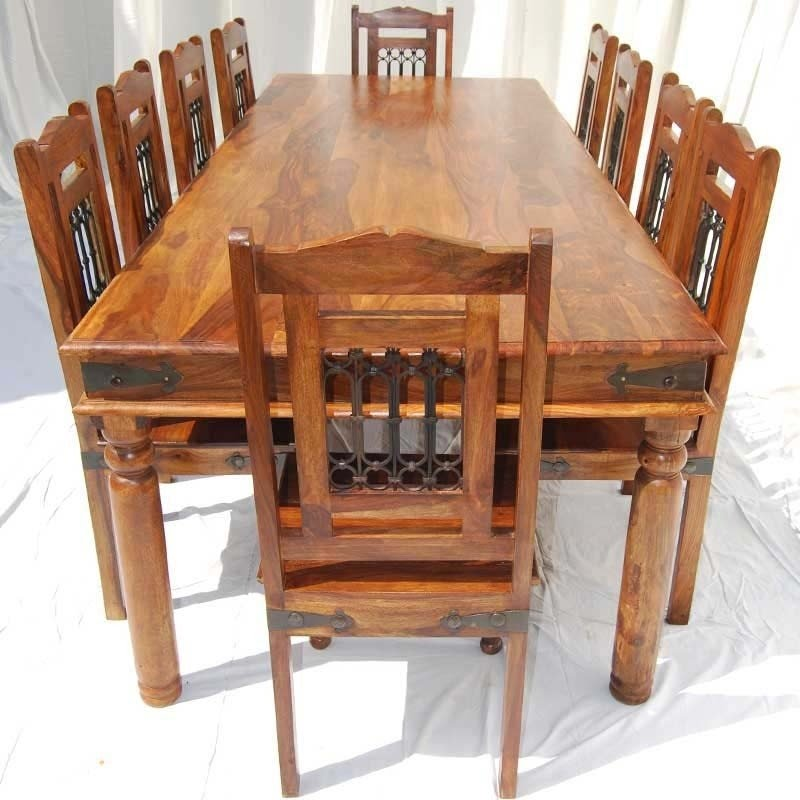 Etonnant Large Dining Table Chairs Set For 10 Seat People Solid