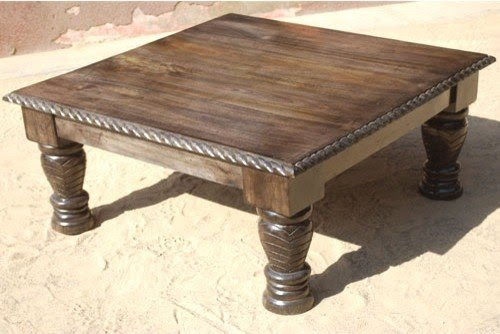 Charmant Large Square Wood Coffee Table .