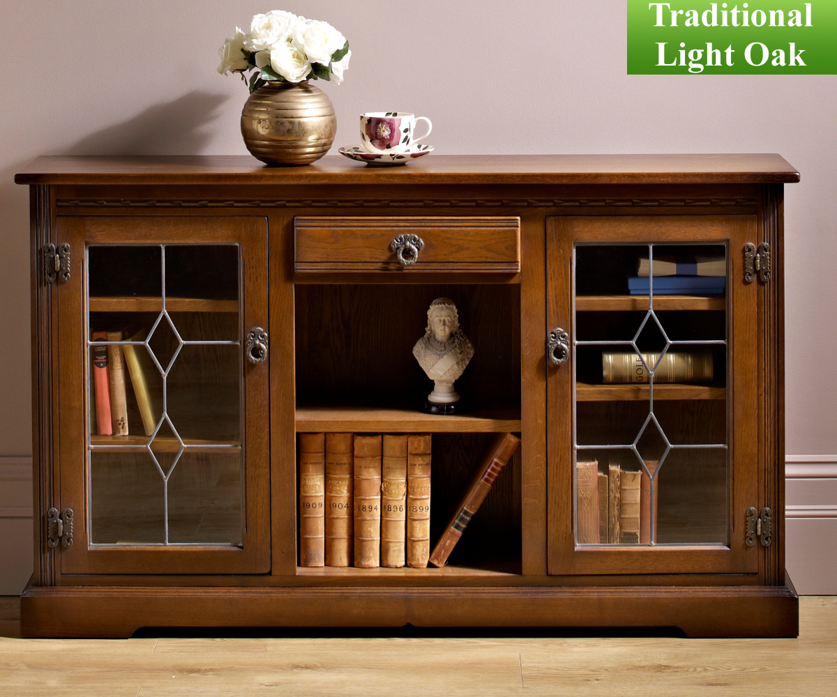 Beau Low Bookcase With Glass Doors From 949