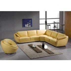 Modern Yellow Leather Sectional Sofa Sectional Sofas Living Room