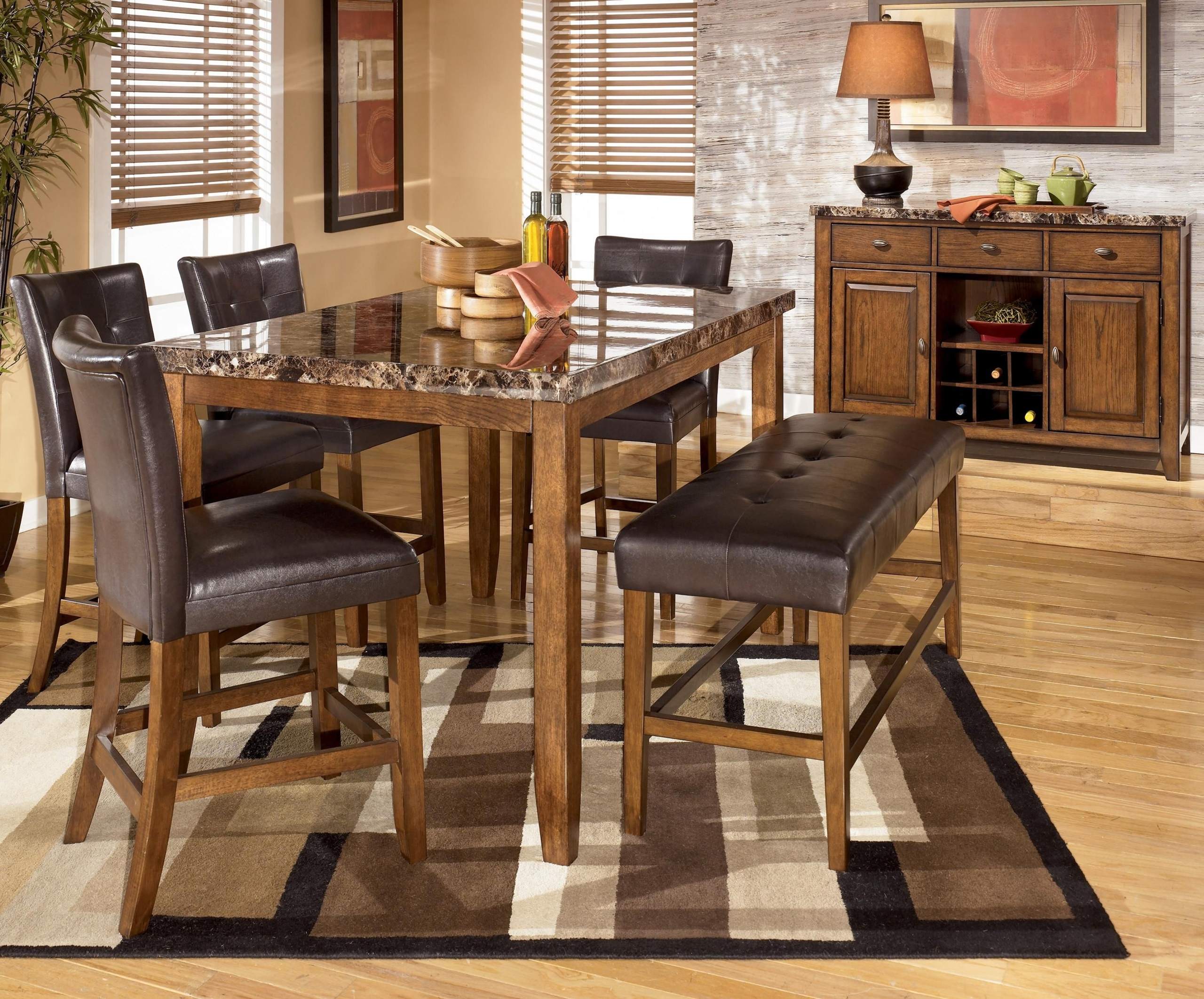 Monarch Specialties 1919 Rectangular Counter Height Dining Table In