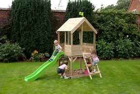 Outdoor playhouses with slide