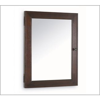Recessed wood medicine cabinets with mirrors 1