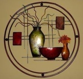Round metal wall art 23