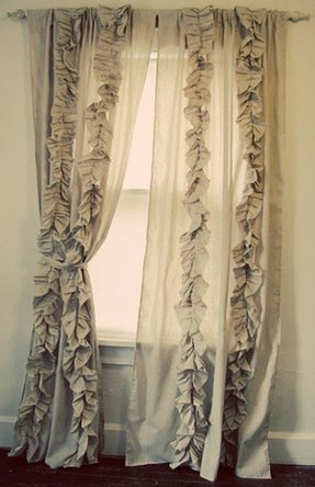 Ruffle Bedroom Curtains