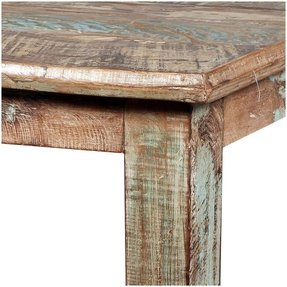 Rustic reclaimed wood distressed small 40 kitchen dining table