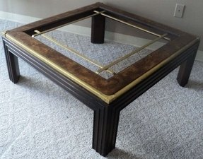 Square Wood And Gl Coffee Table 1