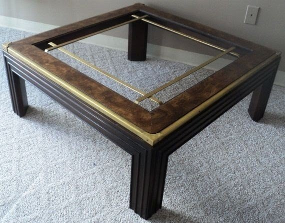 Square Wood And Glass Coffee Table 1