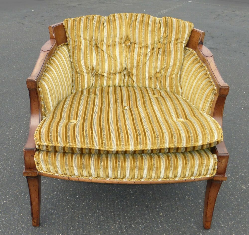Striped Accent Chair With Arms 4