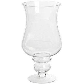 Tall glass hurricane candle holders 2