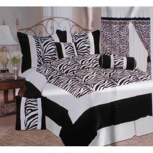 Teal And Zebra Bedding