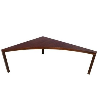 Vintage Walnut Milo Baughman Corner Sofa Table