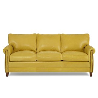 Yellow Leather Sofas 1
