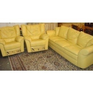 Yellow Leather Sofas 2