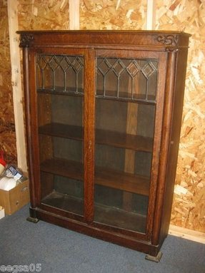 Antique library shelves