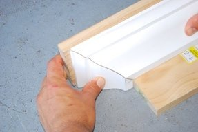 Build a crown moulding ledge shelf free diy plans from