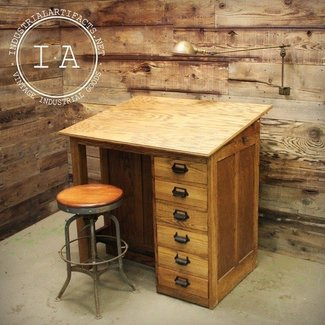 Drafting table with drawers 2