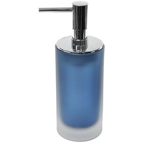 Frosted glass bathroom accessories foter for Blue crackle glass bathroom accessories