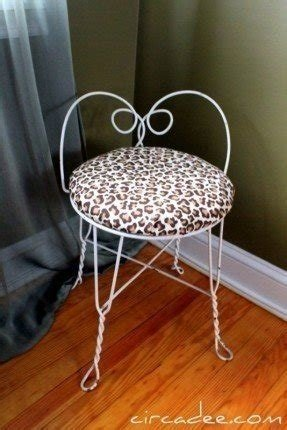 Leopard Vanity Stool Foter