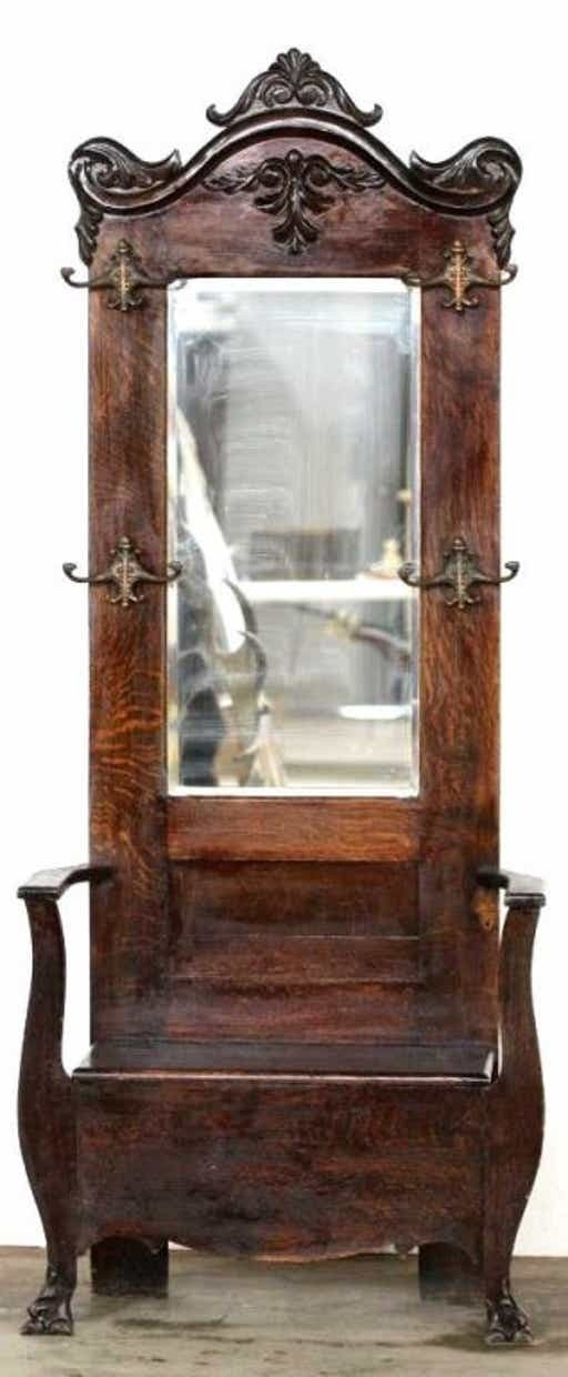 hall tree with mirror Hall Tree Storage Bench With Mirror   Foter hall tree with mirror