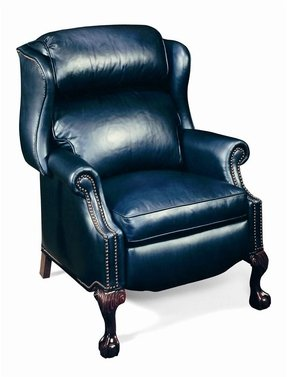 Navy leather recliner 8
