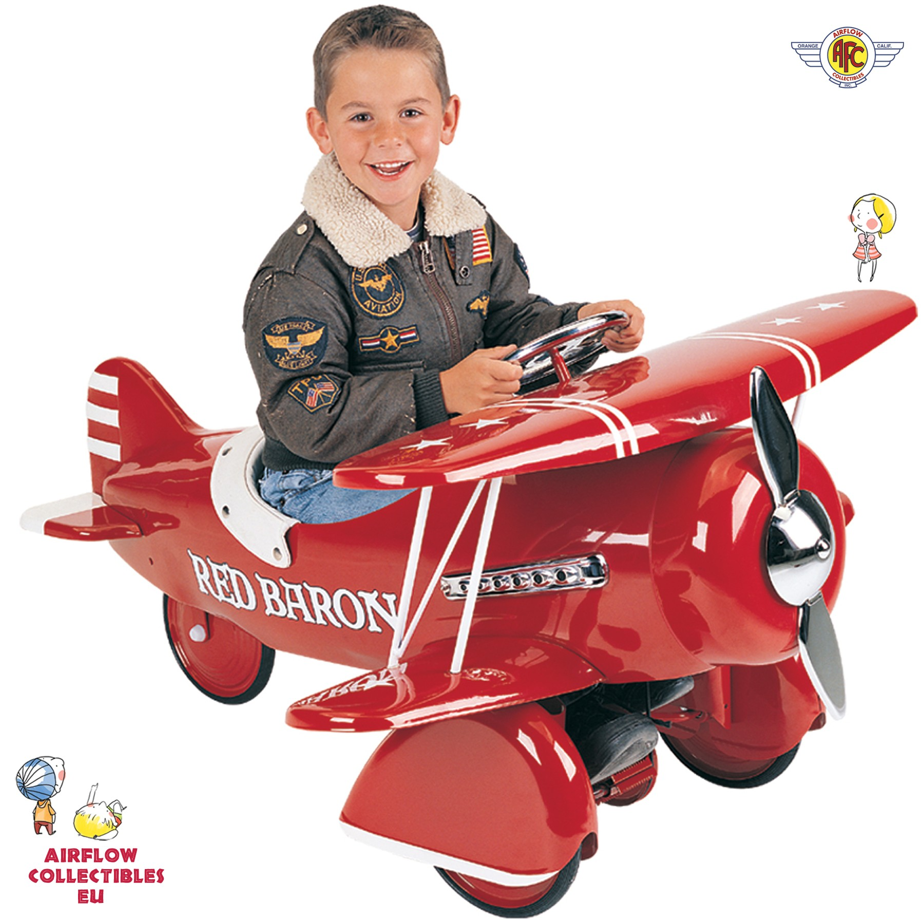 MORGAN CYCLE KIDS GREY STEEL ARMY 44 AIRPLANE FOOT TO FLOOR RIDE-ON TOY NEW